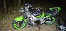 balesetes motorkerékpár