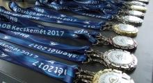 BM úszóverseny érmei