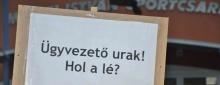 Tüntetés a KSE Kft. ügyében Kecskeméten
