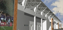 látványterv a széktó stadion korszerűsítéséről