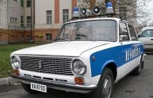zsiguli rendőrautó