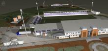 Széktói Stadion látványterve