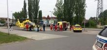 mentőhelikopter Kecskeméten