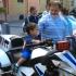 Rendőrségi bemutató Kecskemét főterén