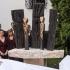szoborleleplezés a kecskeméti Kodály Intézet előtt