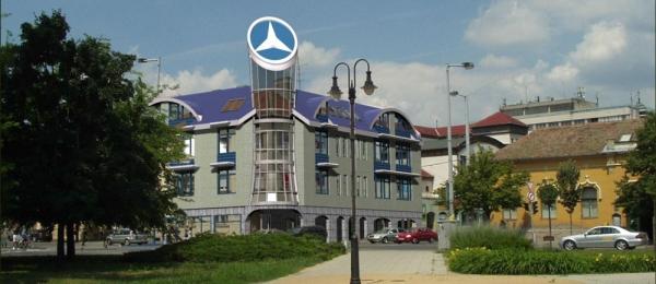 A kecskeméti Mercedes-ház terve