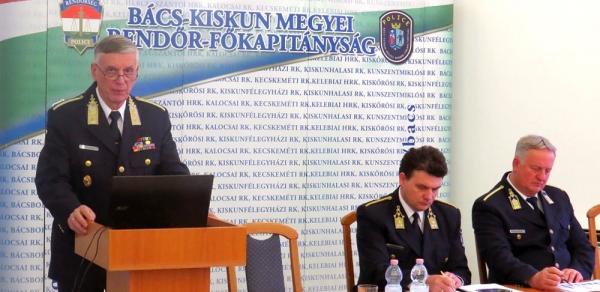 Dávid Károly rendőrfőkapitány Bács-Kiskun  Megye