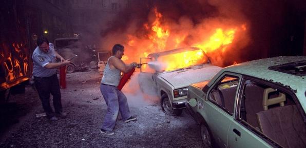 Robbanás az Aranykéz utcában 1998-ban